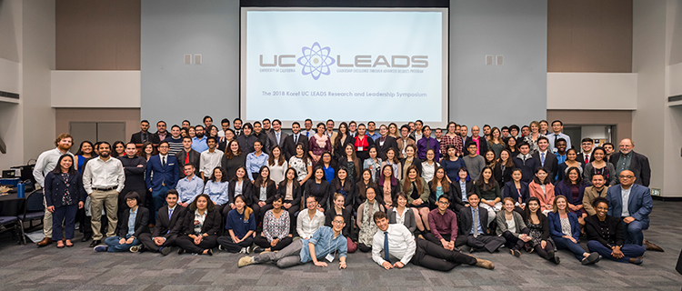 Scholars, Coordinators and Faculty Judges at the 2017 UC LEADS Symposium at UCLA